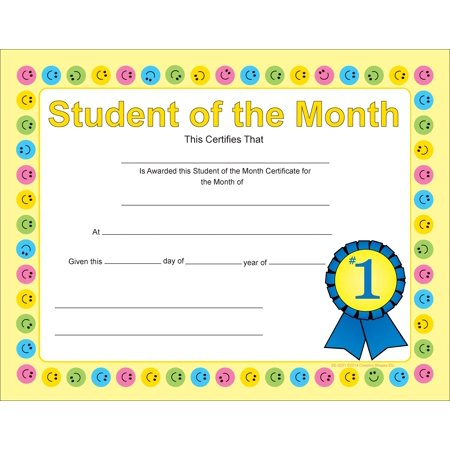 Recognition Certificate - Student of the