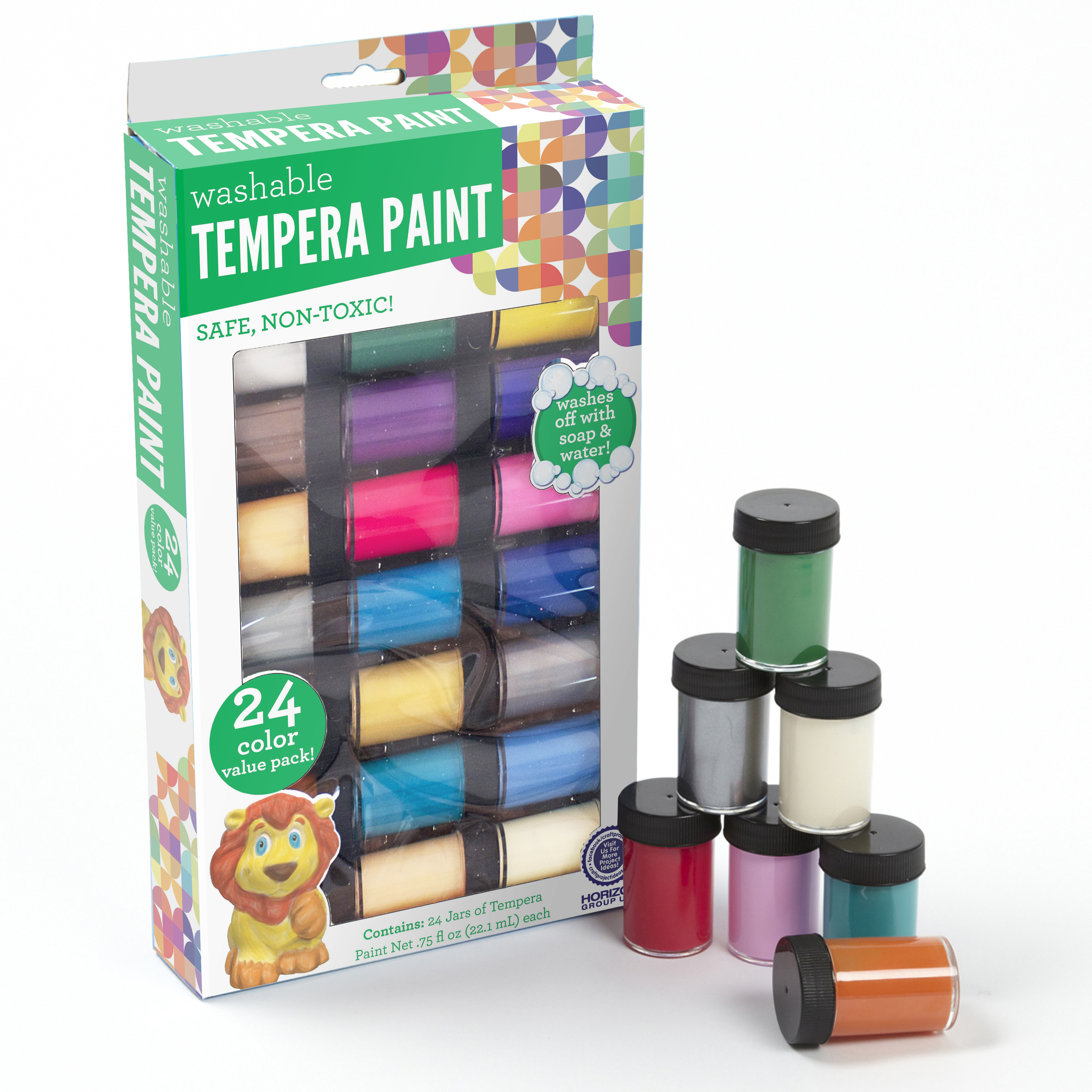 Washable Tempera Paint, 24pk by Horizon Group USA