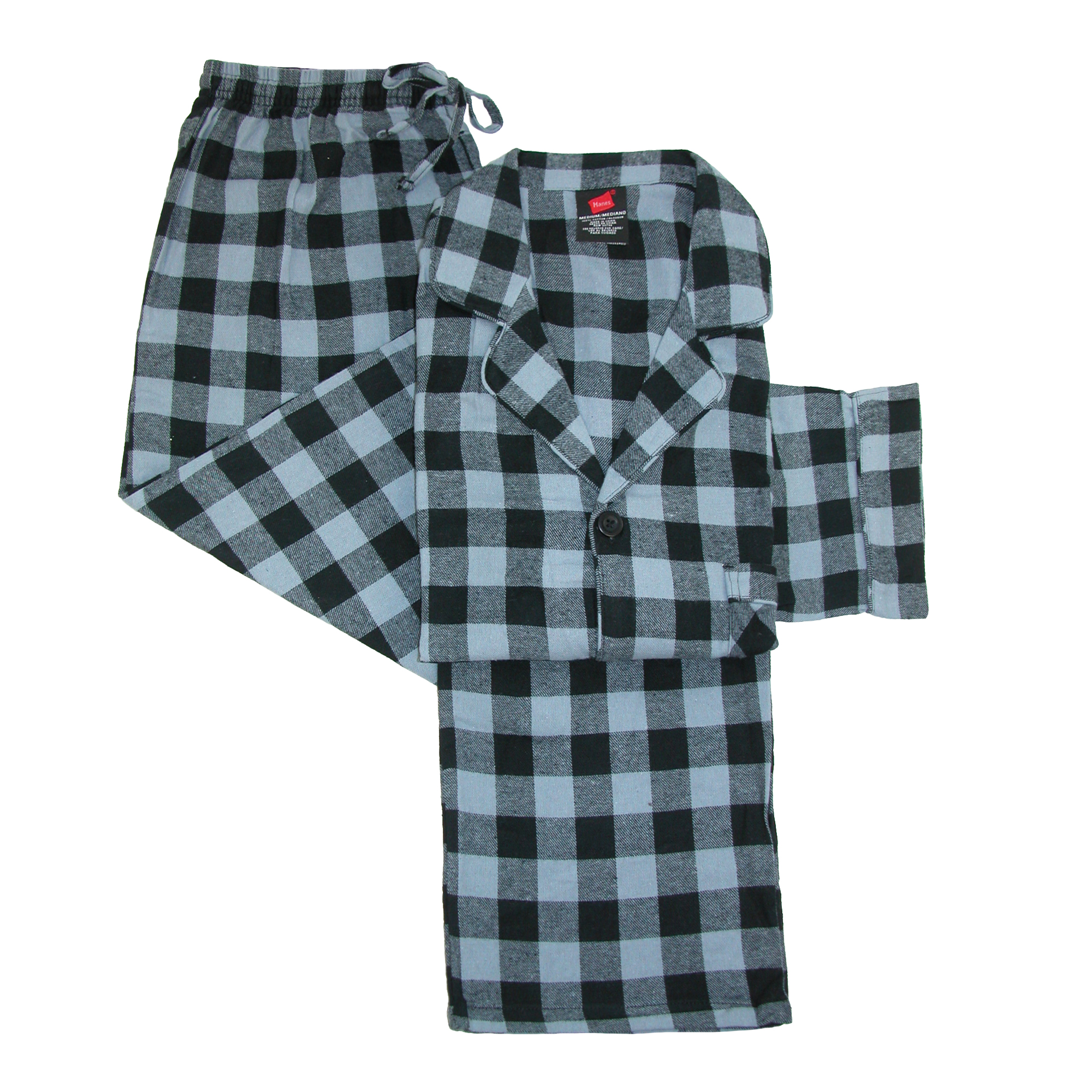 Hanes Hanes Men S Cotton Flannel Pajama Set Walmart Com