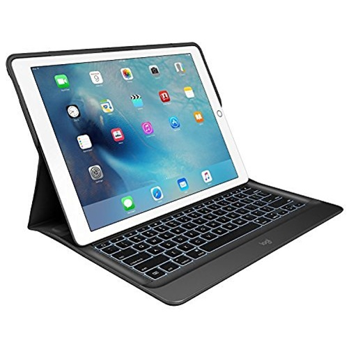 Logitech CREATE Backlit Keyboard Case with Smart Connector for iPad Pro - Black