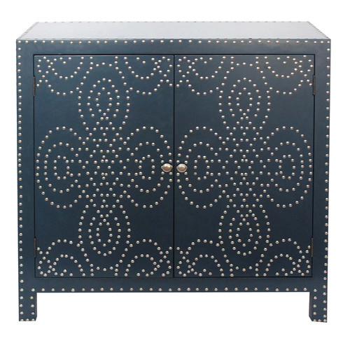 Crestview Collection Indigo 2 Door Accent Cabinet