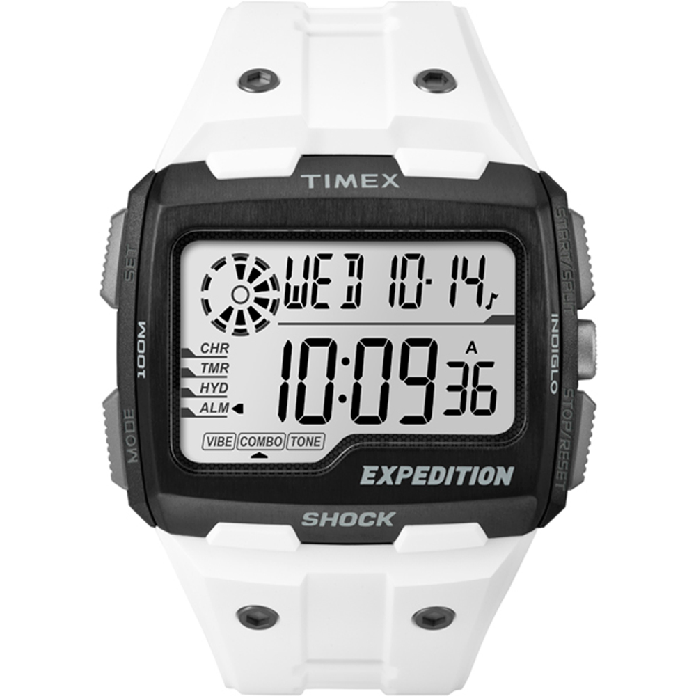 Timex CORPORATION TIMEX EXPEDITION GRID SHOCK WHITE WATCH...