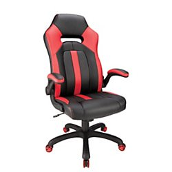 Peachy Realspace High Back Gaming Chair Red Black Andrewgaddart Wooden Chair Designs For Living Room Andrewgaddartcom
