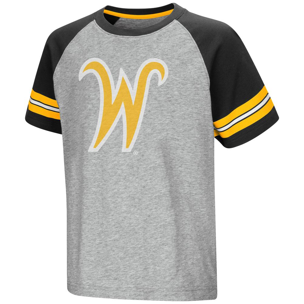University of Wyoming Cowboys Raglan Tee Youth Baseball Shirt