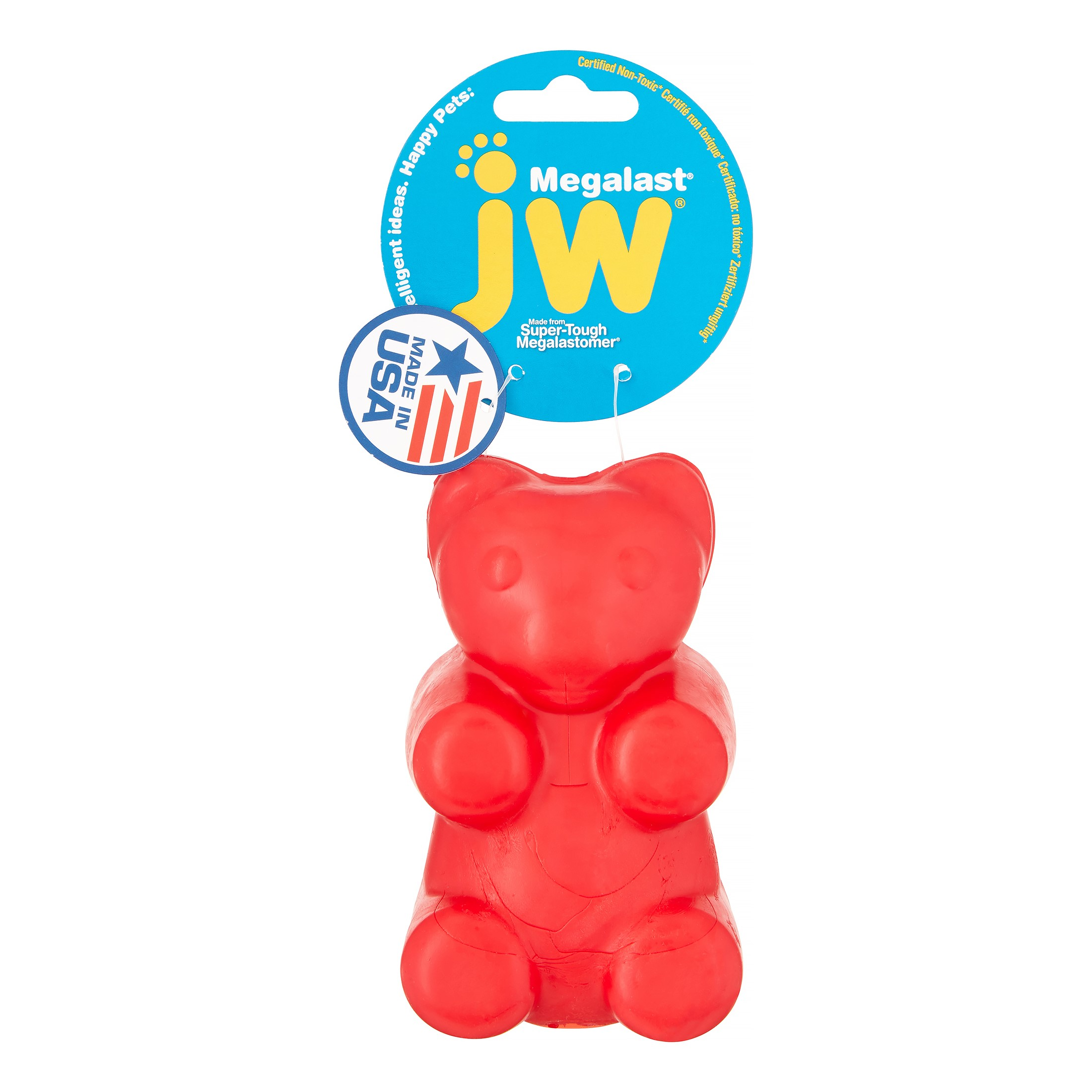Petmate JW Megalast Bear Dog Toy, Large