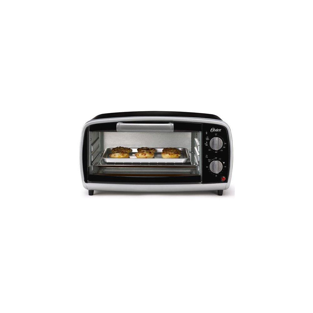 oster tssttvvg01 4-slice toaster oven, black