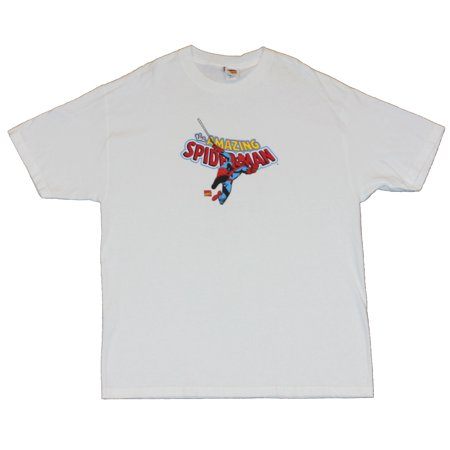 Spider-Man (Spiderman Marvel Comics) Mens T-Shirt  - The Webbed one Swinging o