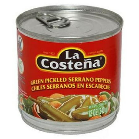 Product Of La Costena, Green Pickled Serrano Peppers, Count 1 - Mexican Food / Grab Varieties & Flavors