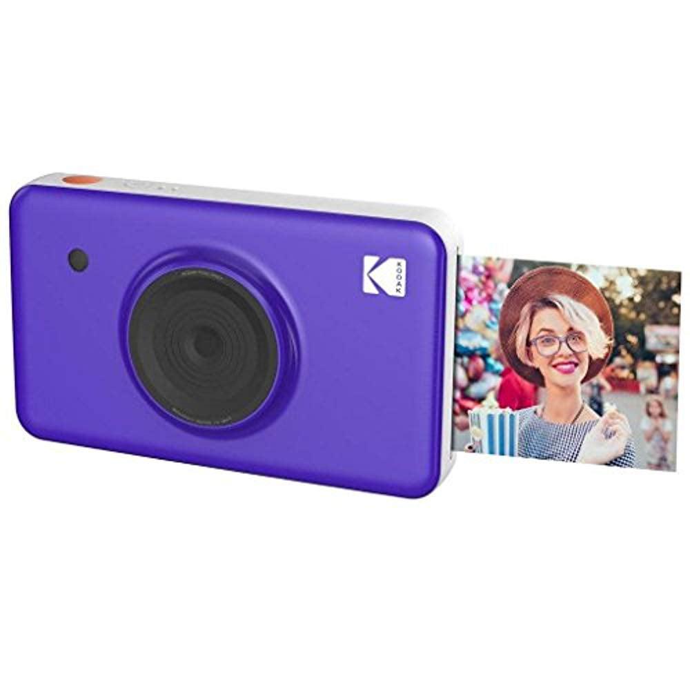Kodak Mini Shot Instant Camera (Purple) Art Bundle + Paper (20 Sheets) + 8x8 Cloth Scrapbook + 12 Twin Tip Markers + 100 Border Stickers + 6 Decorative Scissors + Washi Tape - image 7 of 8