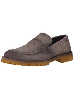Donald J Pliner Men's Penny Loafer, Gray, 10.5 M US