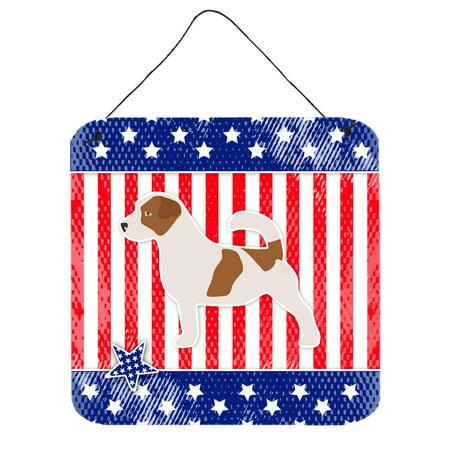 Jack Russell Terrier Barking (USA Patriotic Jack Russell Terrier Wall or Door Hanging Prints BB3307DS66)