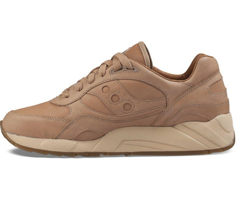 Mens Saucony G9 Shadow 6000 Veg Tan Gum Brown S70314-1 by