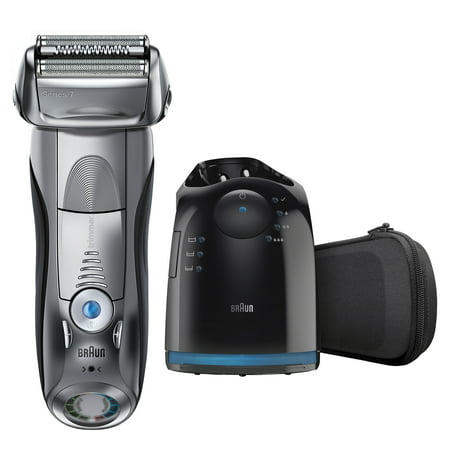 Braun Series 7 790cc Men's Electric Foil Shaver, Rechargeable and Cordless Razor with Clean & Charge (Best Electric Shaver For Thick Hair)