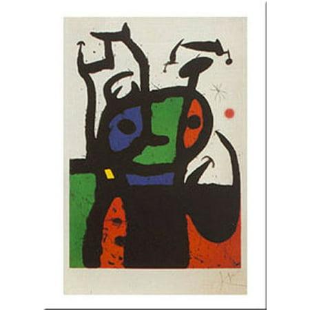 The Matador by Joan Miro 12x9.5 Art Print -