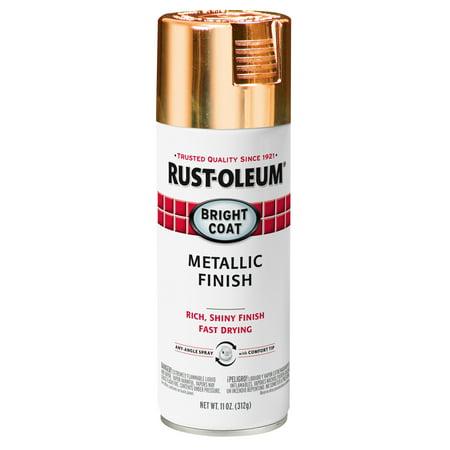 Rust-Oleum Stops Rust Bright Coat Metallic Rose Gold Spray Paint, 11 oz