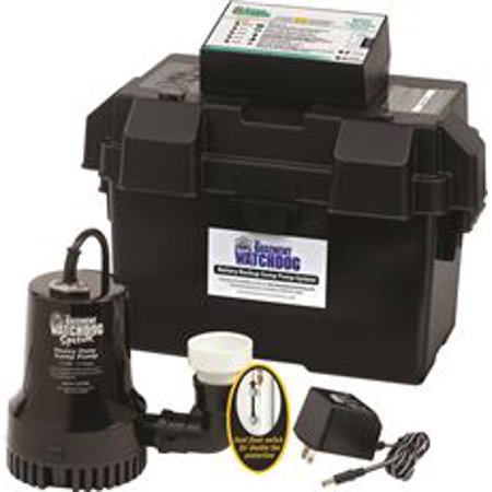 Backup Pump System - Basement Watchdog Special Battery Backup Sump Pump System
