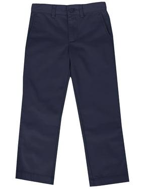 Boys Slim Straight Flat Front School Uniform Pants(Little Boys,Big Boys)