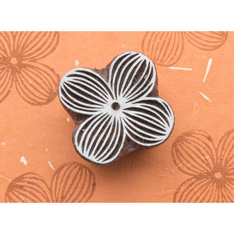 Blockwallah Block Stamp-striped Flower