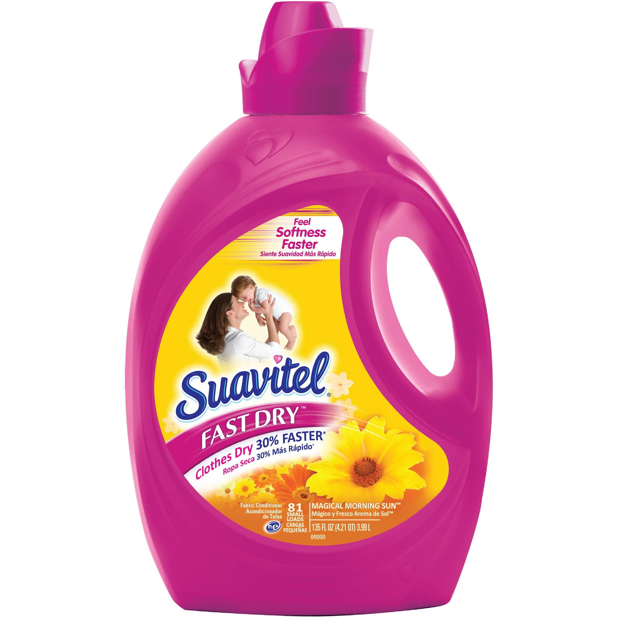 Suavitel Fast Dry Magical Morning Sun Liquid Fabric Conditioner, 135 fl oz