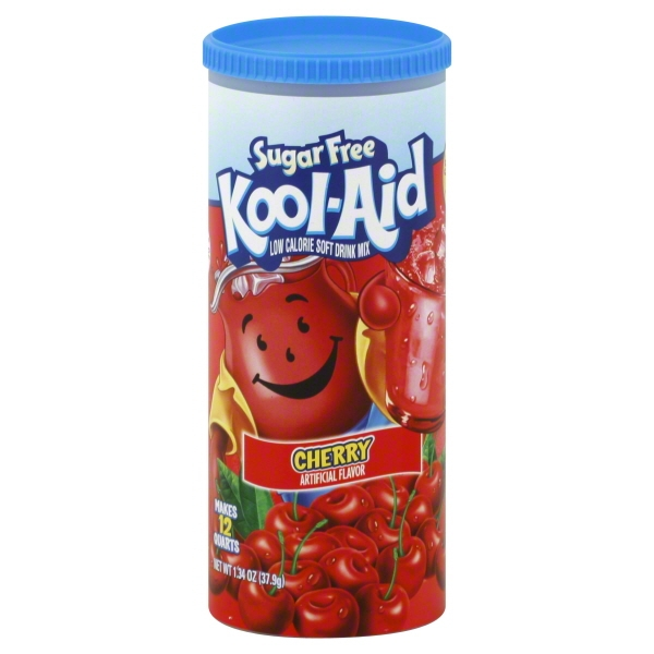 Kool-Aid Sugar Free Cherry Low Calorie Soft Drink Mix, 1.34 OZ