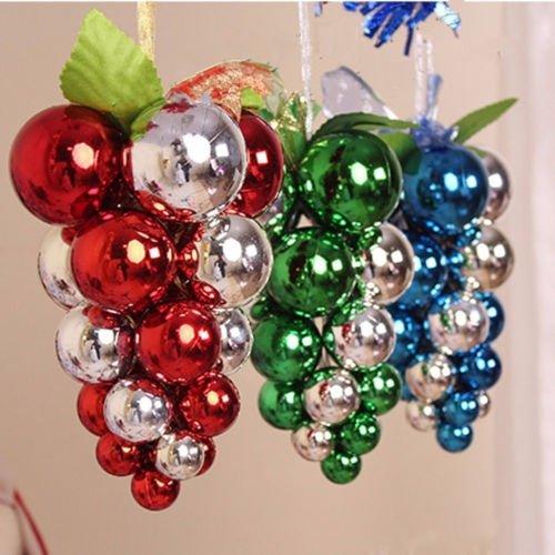 Us Stock Xmas Tree Grape Balls Hanging Ornament Decoration Christmas Party Decor Walmart Com Walmart Com