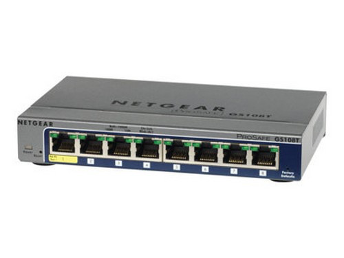 Netgear Prosafe Gs108tv2 8-port Gigabit Smart Switch Switch 8 Ports Managed Desktop by NETGEAR