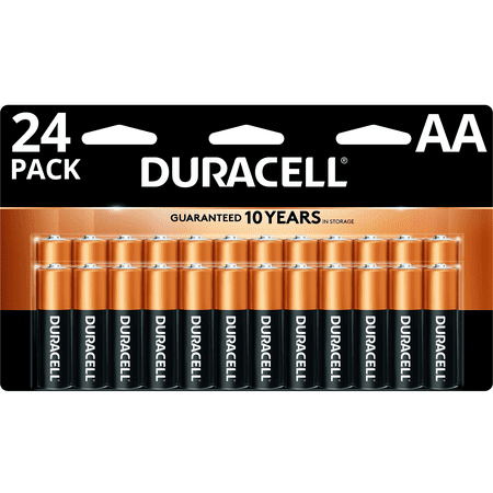 (1 or 2 Pack) Duracell 1.5V Coppertop Alkaline AA Batteries, 24 Pack