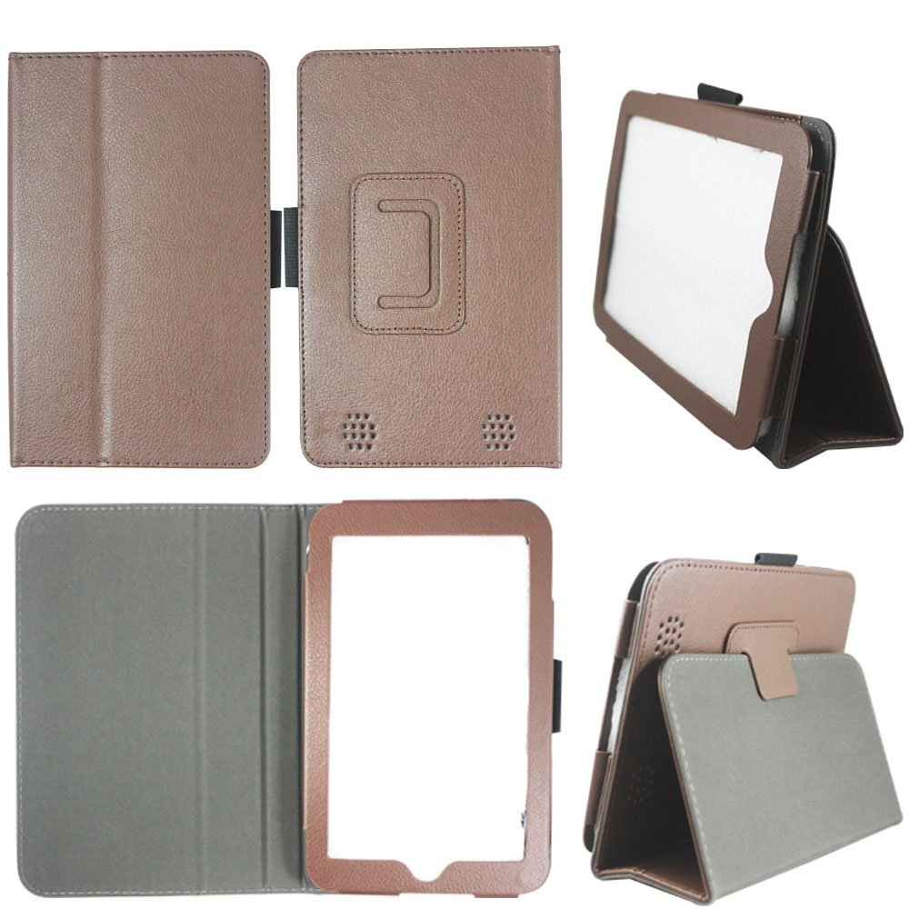 Snow Wolf Folio Case for Barnes & Nobles Nook HD 7 Tablet Slim Fit Leather Standing Cover with Auto Sleep/ Wake Feature