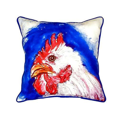 Betsy Drake Interiors Rooster Head 22'' Indoor/Outdoor Throw Pillow
