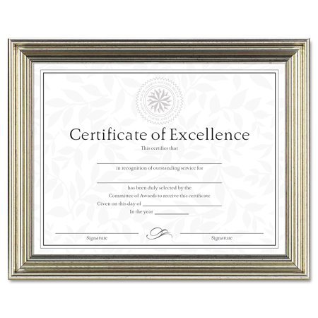 DAX Antique Colored Document Frame w/Certificate, Plastic, 8 1/2 x ...