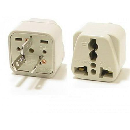 Universal Grounded Travel Plug Adapter For Australia, China, Argentina, New Zealand (Type I)