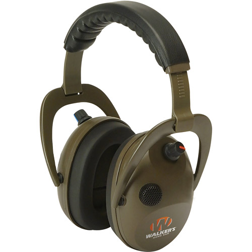 Walkers Game Ear Alpha Power Muff D-Max Headphones with Microphone, Green