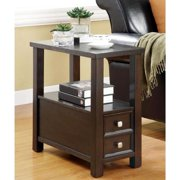 A Line Furniture Casual Accent Table with Storage Drawer and Shelf