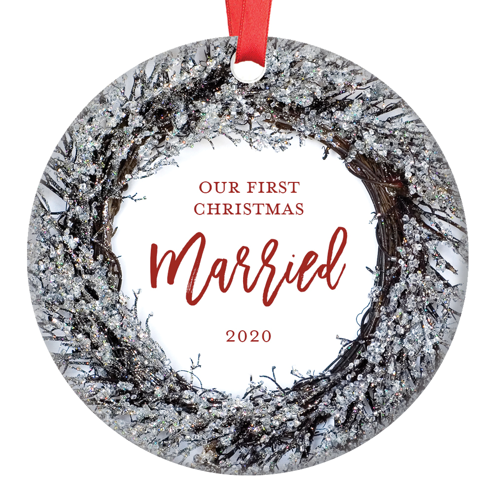 First Christmas Married Ornament 2020 Our First Christmas Married Ornament 2020, Husband & Wife Couple