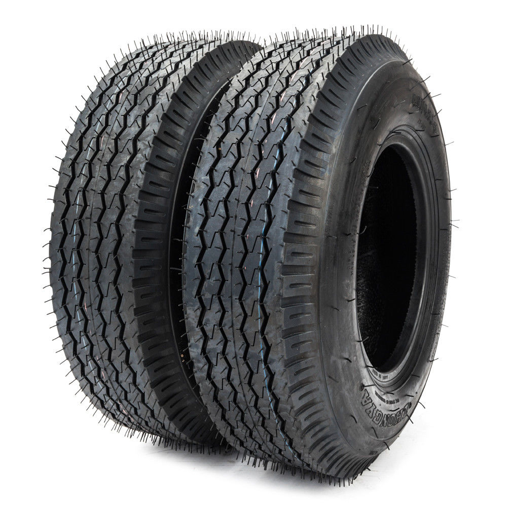 Ktaxon 2Pcs P819 4.80/4.00-8 4PR Bias Trailer Tires 4.80-8 4.80x8