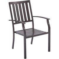 Better Homes and Gardens Camrose Farmhouse Mix and Match Slat-Back Stacking Chair, Brown