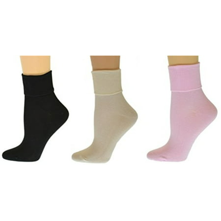 Core 3 Pair Pack - Sierra Socks Women's Organic Cotton Extra Smooth Toe Seaming 3 Pair Pack (Fits Shoe Size 4-10, Socks Size 9-11, Assorted (3 Pair Pack))