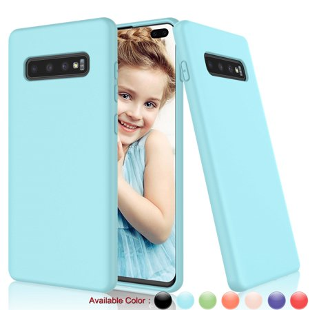 Cases for Galaxy S10 / S10+ / S10 5G / S10E, Njjex Liquid Silicone Gel Rubber Shockproof Case Fit Galaxy S10+ Slim Matte Surface Cover w/ Soft Microfiber Lining For 2019 Galaxy S10+ 6.4