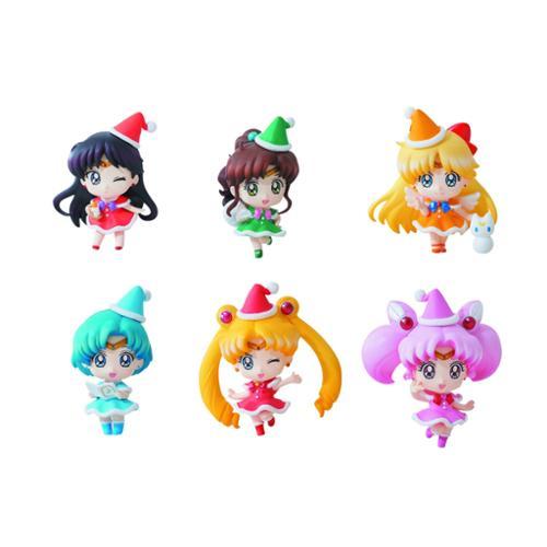 "Sailor Moon Petit Chara 2"" Mini Figure Set Of 6(Christmas Version)"