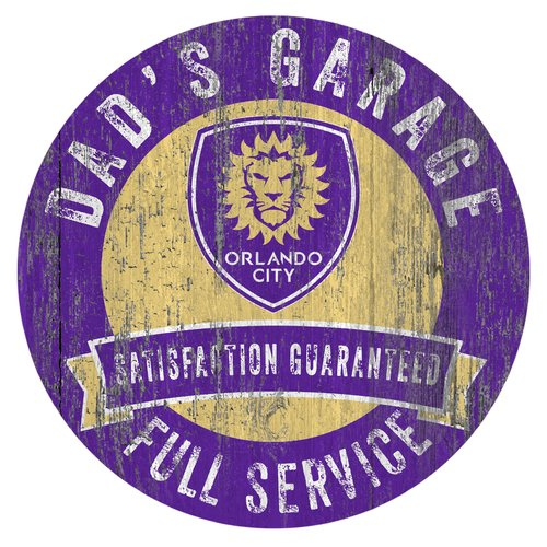 Fan Creations MLS Dad's Garage Sign Graphic Art Print on Wood