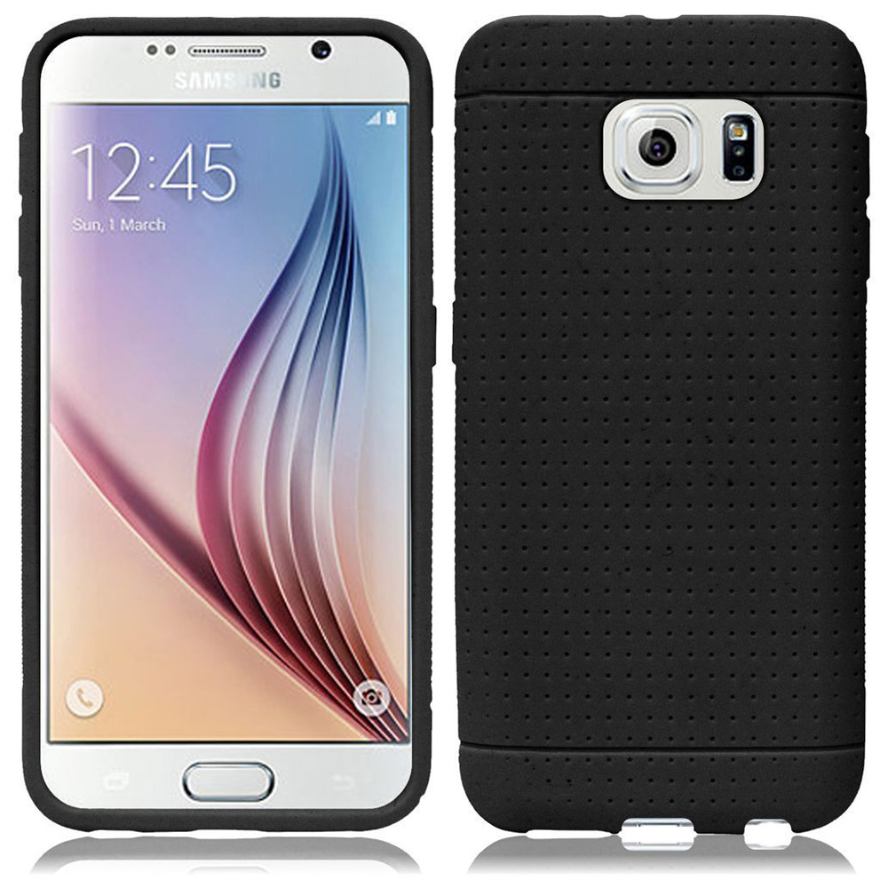 Samsung Galaxy S6 Case, Premium Rugged Soft Slim Silicone Case Impact Resistant Back Cover for Samsung Galaxy S6 SM-G920F- Black, Flexible, Anti Scratch,Oil Resistant