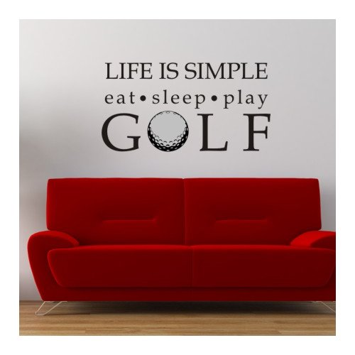 Alphabet Garden Designs Life is Simple-Golf Wall Decal