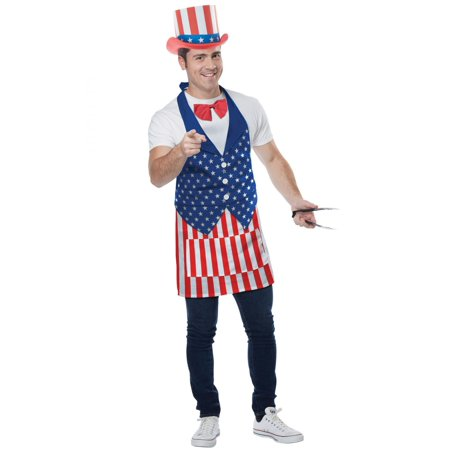 4th of July Apron Adult Costume Set, One Size (4th Of July Costumes For Women)