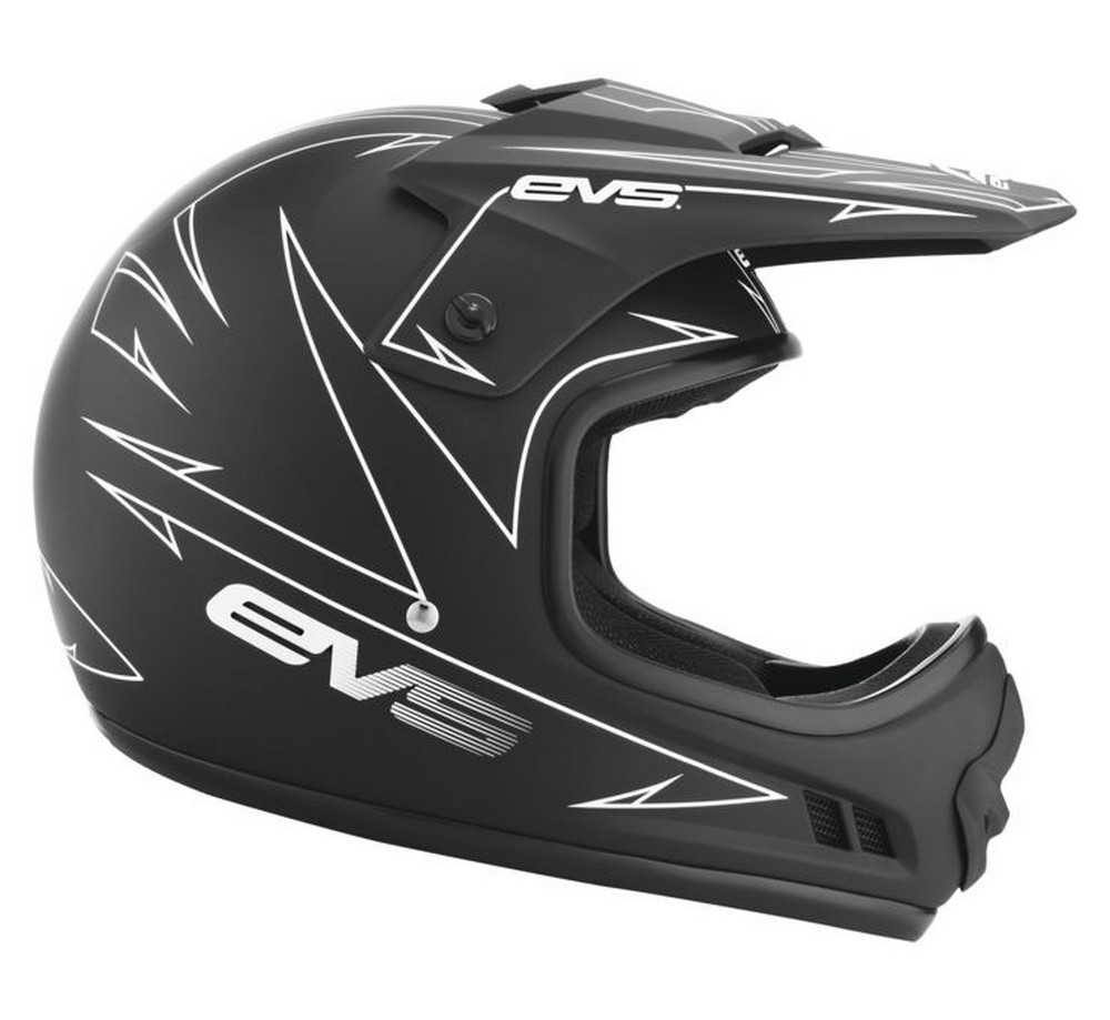 EVS T3 Pinner Youth MX Offroad Helmet Matte Black/White