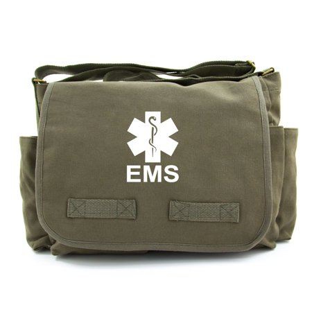 EMS Emergency Medical Services Army Heavyweight Canvas Messenger Shoulder
