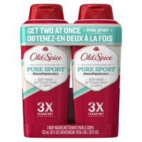 (2 pack) Old Spice Pure Sport High Endurance Body Wash, 18 fl oz