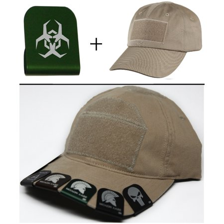 Malware Toxic Hazard Symbol Cap Crown Rim Brim It Green   Tan Hat
