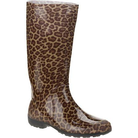 Women's Cheetah Rain Boots - Walmart.com