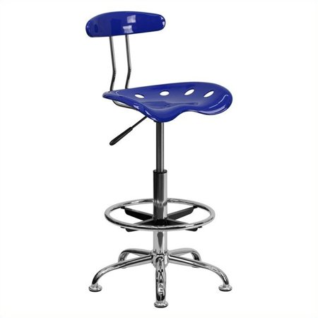 (Flash Furniture Adjustable Height Drafting Stool with Tractor Seat, Nautical Blue)