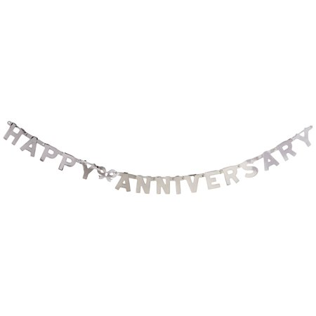 55452-S Foil Happy Anniversary Streamer, 4-1/4-Inch by 6-Feet, This item is a great value! By Beistle